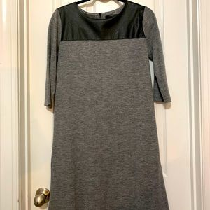 THML dress with vegan leather on shoulders Medium